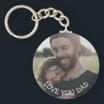 "Love you Dad, Personalized Photo Key Chain<br><div class=""desc"">This personalized picture key chain is a perfect gift for your dad for father's day or a birthday.</div>"