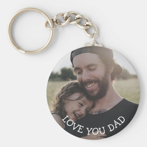 Love you Dad Personalized Photo Key Chain