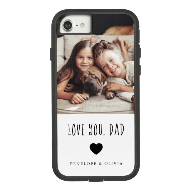 Love You Dad   Your Photo and Handwritten Text Case-Mate iPhone Case