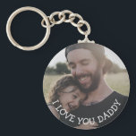 """Love you Daddy, Personalized Photo Key Chain<br><div class=""""desc"""">This personalized picture key chain is a perfect gift for your dad for father"""