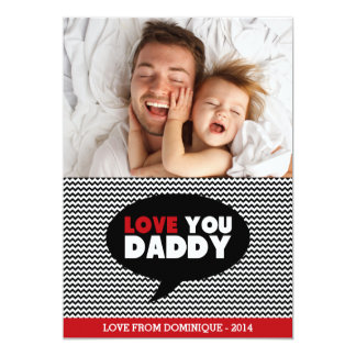 Love You Daddy   Photo Happy Father's Day Card