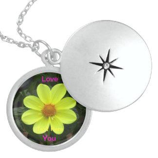 Love You Dalia Flower Custom Necklace