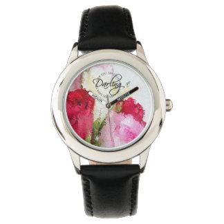 Love you Darling, Watch - Flowers