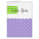 Love You Dots Greeting Card