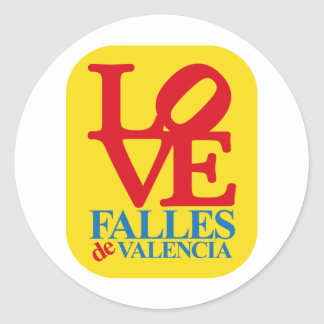 LOVE YOU FAIL YELLOW STAMP CLASSIC ROUND STICKER