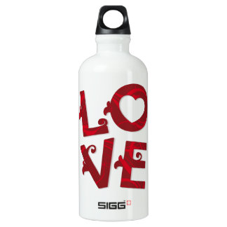 LOVE You Floral Letters - bottle
