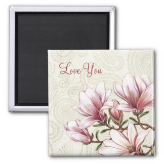 Love You Floral Magnet