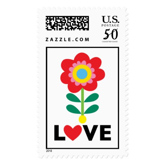 Love You Flower stamp  LARGE