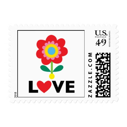 Love You Flower stamp  SMALL
