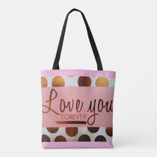 """""""Love You Forever"""" All-Over-Print Tote Bag"""