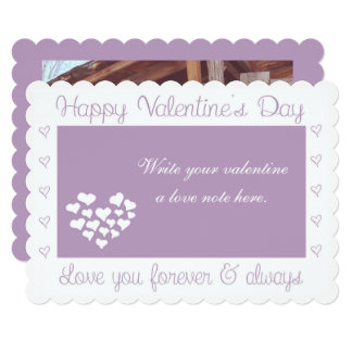 """Love you Forever & Always"" Valentine's Day Card"
