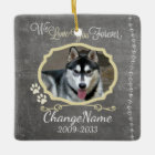 Love You Forever Dog Memorial Keepsake Ceramic Ornament