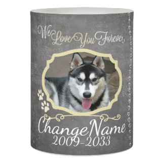 Love You Forever Dog Memorial Keepsake Flameless Candle
