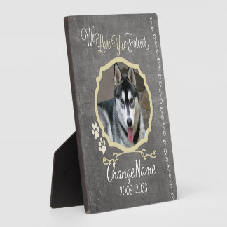 Love You Forever Dog Memorial Keepsake Plaque
