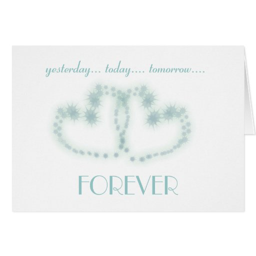 Love You Forever in Blue Card