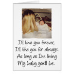 Love you forever mom cards