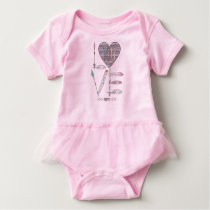 Love You Forever Native American Tutu Bodysuit