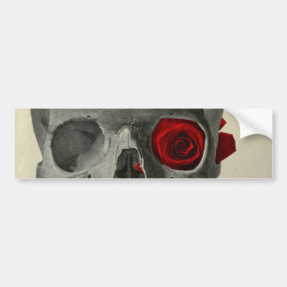 Love You Forever - skull and rose Bumper Sticker