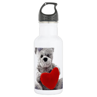 LOve you forever teddy bear Stainless Steel Water Bottle