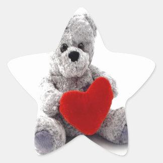 LOve you forever teddy bear Star Sticker