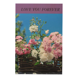LOVE YOU FOREVER WOOD WALL ART