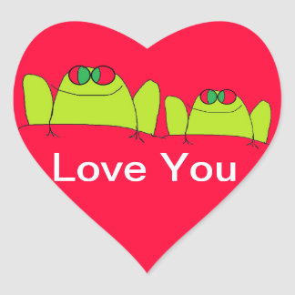 love you frog stickers