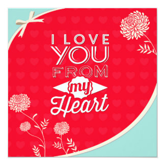 Love You From My Heart Valentine's Day Invitation