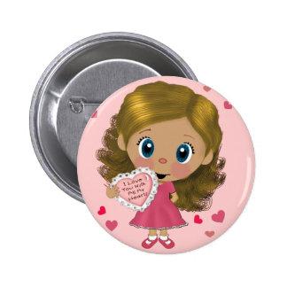Love you Girl Button