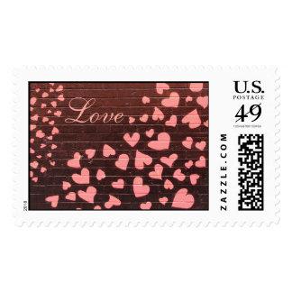 Love You Graffiti Street Art Postage Stamps