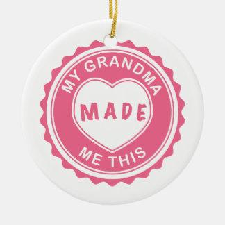 Love You, Grandma! Ceramic Ornament