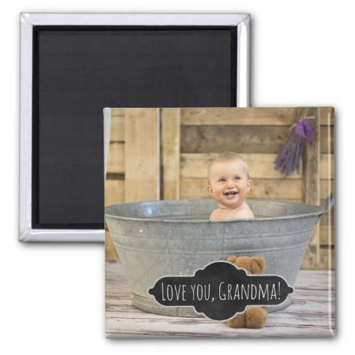 Love You Grandma  Custom Instagram Baby Photo Magnet