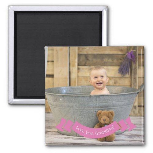 Love You Grandma  Custom Instagram Baby Photo Magnet