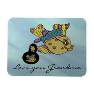 Love You Grandma Goldfish Premium Magnet