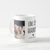 Love You Grandpa   Two Photo Handwritten Text Coffee Mug