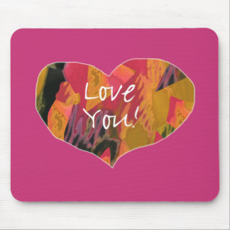 Love You! Heart (2) - Mouse Pad