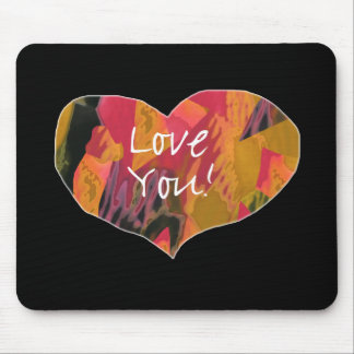 Love You! Heart - Mouse Pad