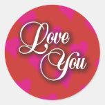 Love You Hearts Sticker