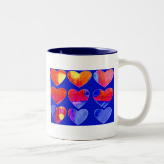 love you hearts two tone mug