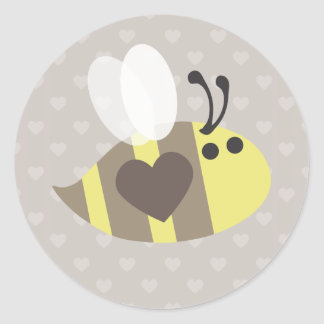 Love you honey! round stickers