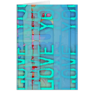 Love you in Blue St valentine's Day Greeting Card