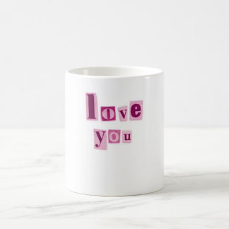 Love You in Pink Letters Mug