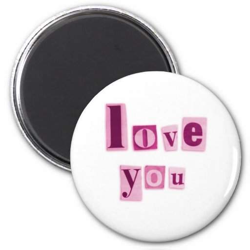 Love You in Pink Magnet