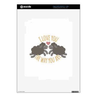 Love You iPad 2 Decals