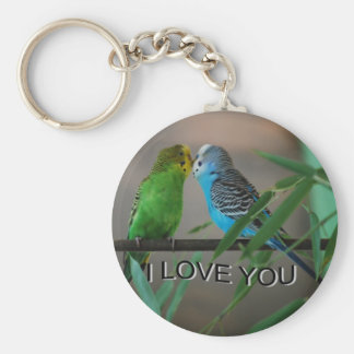 love you keets basic round button keychain
