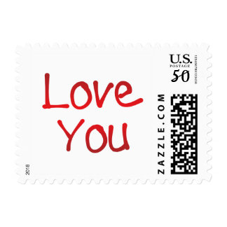 Love you lettering postage