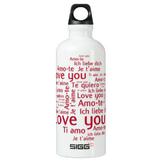 Love You Letters - my liberty bottl Aluminum Water Bottle