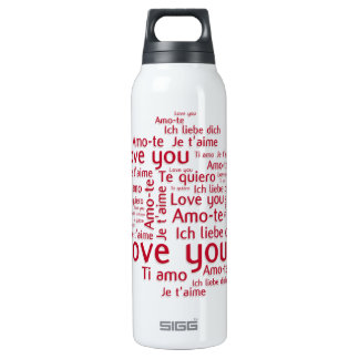 Love You Letters - my liberty bottl Insulated Water Bottle