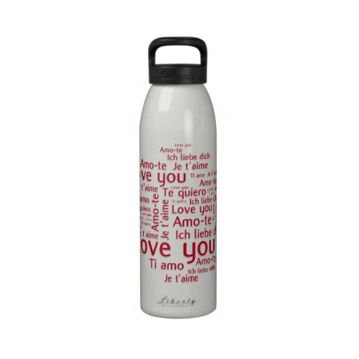 Love You Letters - my liberty bottl Drinking Bottles