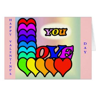 Love You Line Greeting Card