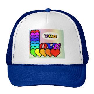 Love You Line Trucker Hat